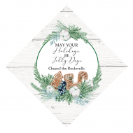 Holiday Wine Hang Tag - Gingerbread Wishes