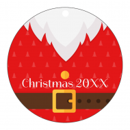 Holiday Label - Christmas Santa Tag