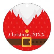 Holiday Label - Christmas Santa Tag