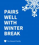 Expressions Wine Label - Winter Break