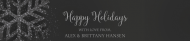 Holiday Water Bottle Label - Sparkling Silver Snowflakes