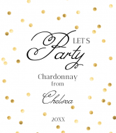 Celebration Wine Label - Party Hard