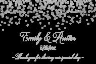 Wedding Mini Wine Label - Silver Confetti