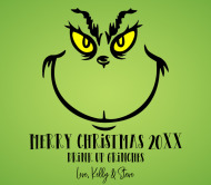 Holiday Beer Label - Grinch