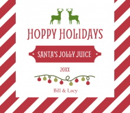 Holiday Beer Can Label - Striped Hoppy Holidays