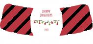Holiday Bottle Neck Label - Striped Hoppy Holidays