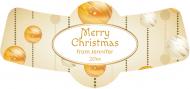 Holiday Bottle Neck Label - Golden Christmas