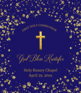 Wine Label - First Communion