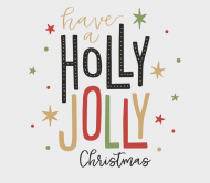 Holiday Beer Can Label - Holly Jolly Christmas