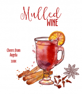 Holiday Wine Label - Mulled Wine