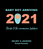 Baby Wine Label - Baby Boy Arriving