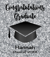 Graduations Wine Label - Graduation Silver Glitter
