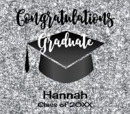 Graduations Beer Label - Graduation Silver Glitter