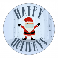 Holiday Label - Social Distancing Santa