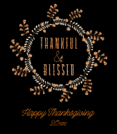 Holiday Wine Label - Thanksgiving Wreath
