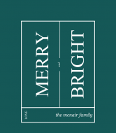 Holiday Wine Label - Minimalist Merry and Bright