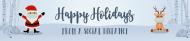 Holiday Water Bottle Label - Social Distancing Santa and Reindeer