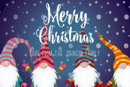Holiday Mini Wine Label - Snowy Gnomes