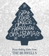 Holiday Wine Label - Joy Love Peace