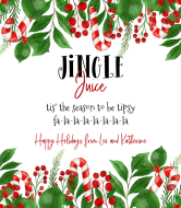 Holiday Wine Label - Jingle Juice