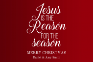 Holiday Mini Wine Label - Reason for the Season