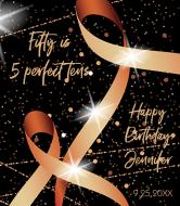 Birthday Wine Label - Ribbon and Lights