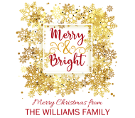 Holiday Beer Label - Merry & Bright Snowflake Frame