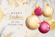 Holiday Mini Wine Label - Realistic Christmas Ornaments