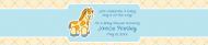 Baby Water Bottle Label - Baby Giraffe