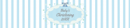 Baby Water Bottle Label - Christening Boy