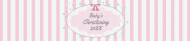 Baby Water Bottle Label - Christening Girl