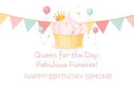 Birthday Mini Wine Label - Birthday Queen