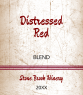 Expressions Wine Label - Distressed Red