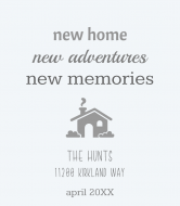 Expressions Wine Label - New Home, New Adventures