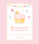 Birthday Wine Label - Birthday Queen