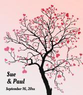 Wedding Wine Label - Tree of Love