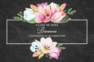 Graduations Mini Wine Label - Graduation Bouquet