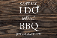 Wedding Food Label - I Do and BBQ