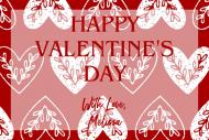 Holiday Mini Wine Label - Folki Valentine