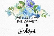 Wedding Mini Wine Label - Linen and Blooms