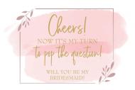Wedding Mini Wine Label - Pink Watercolor Brush Stroke Frame