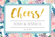 Wedding Mini Champagne Label - Hand Painted Floral