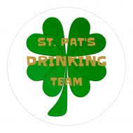 Holiday Cup Label - St. Pat's Drinking Team