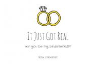 Wedding Mini Wine Label - It Just Got Real