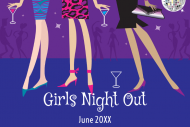 Celebration Mini Wine Label - Girls Night Out