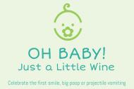 Baby Mini Wine Label - Oh Baby