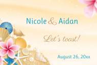 Wedding Mini Wine Label - Beach Wedding