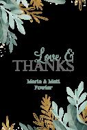 Wedding Mini Wine Label - Watercolor Leaves