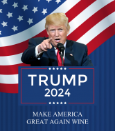 Expressions Wine Label - Trump 2024