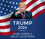 Expressions Beer Can Label - Trump 2024